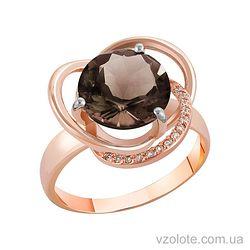 Золотое кольцо с раухтопазом (арт. 1190433101р)