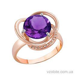 Золотое кольцо с аметистом (арт. 1190433101а)