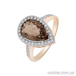 Золотое кольцо с раухтопазом (арт. 1190435101р)
