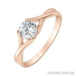 Золотое кольцо с фианитом (арт. 1190543101)