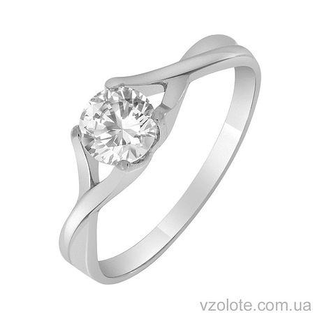 Золотое кольцо с фианитом (арт. 1190543102)