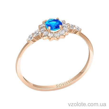 Золотое кольцо с топазом (арт. 1190749101)