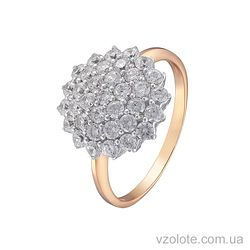 Золотое кольцо с фианитами (арт. 1190763101)