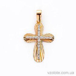 Золотой крестик с Фианитами (арт. 443822)