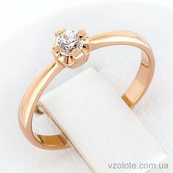Золотое кольцо с фианитом (арт. 1101477101)