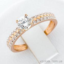 Золотое кольцо с фианитами (арт. 1190876101)