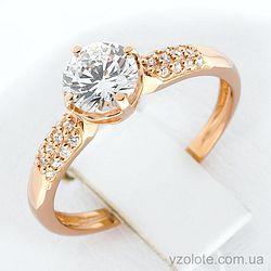 Золотое кольцо с фианитами (арт. 1190747101)