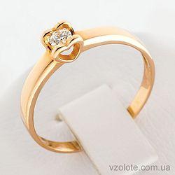 Золотое кольцо с бриллиантом (арт. 1190521201)