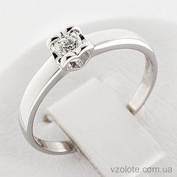 Золотое кольцо с бриллиантом (арт. 1190521202)
