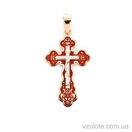 Золотой крестик с эмалью (арт. 505001к)