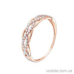 Золотое кольцо с фианитами (арт. 1190865101)