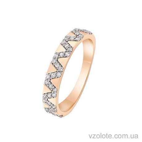 Золотое кольцо с фианитами (арт. 1190866101)