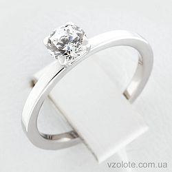 Золотое кольцо с фианитом (арт. 140282б)