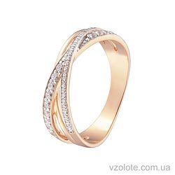 Золотое кольцо с фианитами (арт. 1190870101)