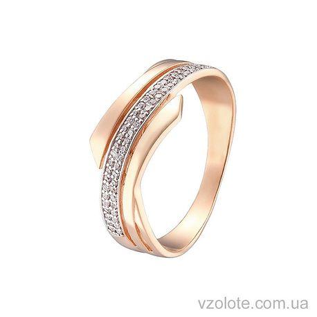 Золотое кольцо с фианитами (арт. 1190875101)