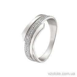 Золотое кольцо с фианитами (арт. 1190875102)