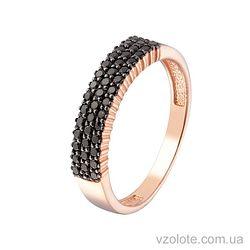 Золотое кольцо с фианитами (арт. 1190877101ч)