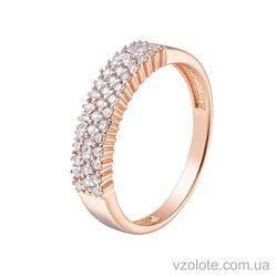 Золотое кольцо с фианитами (арт. 1190877101)