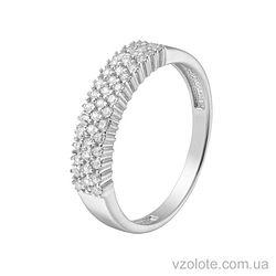 Золотое кольцо с фианитами (арт. 1190877102)