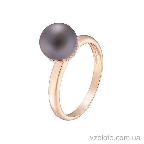 Золотое кольцо с жемчугом (арт. 1190732101ч)