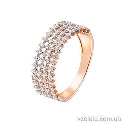 Золотое кольцо с фианитами (арт. 1191014101)