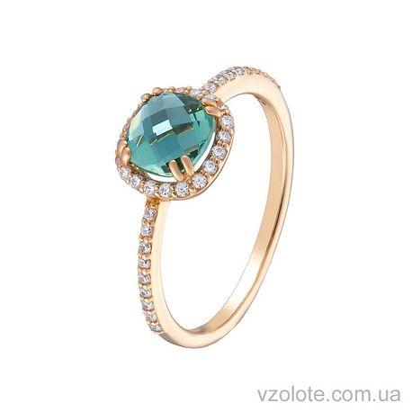 Золотое кольцо с турмалином (арт. 1191061101т)