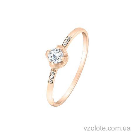 Золотое кольцо с фианитами (арт. 1101472101)