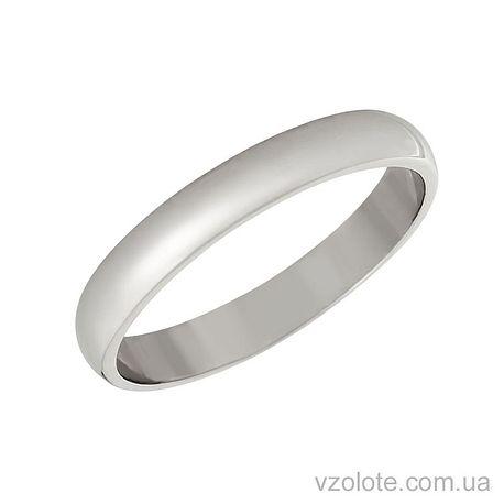 Классическое обручальное кольцо из белого золота 3 мм (арт. 1003б)