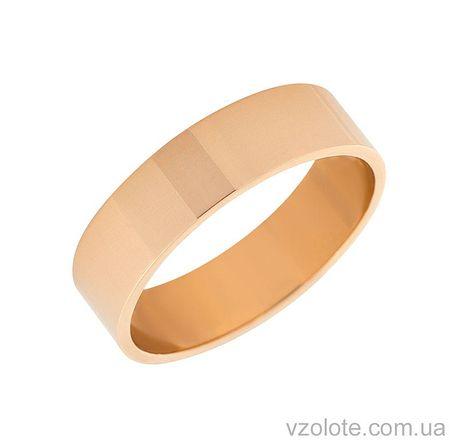 Золотое обручальное кольцо классическое Американка (арт. 10105)