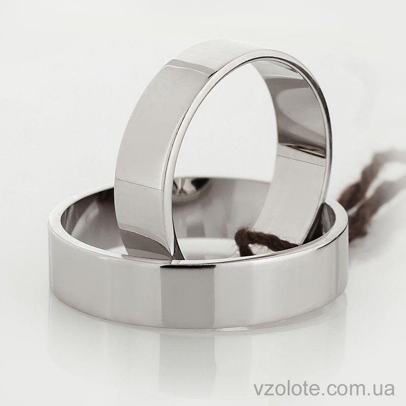 7b61d9c83343 Обручальное кольцо из белого золота Американка (Европейка) (арт ...