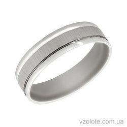 Обручальное кольцо из белого золота Вечность