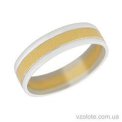 Золотое обручальное кольцо Романс