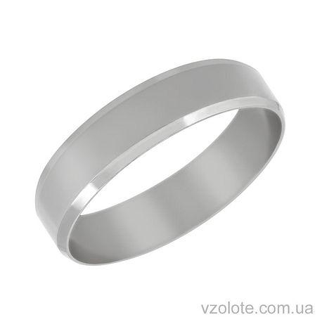 Обручальное кольцо Европейская классика из белого золота (арт. 1005б)