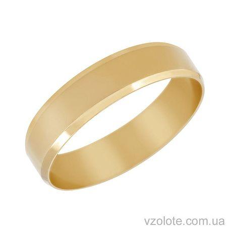 Обручальное кольцо Европейская классика из лимонного золота (арт. 1005л)