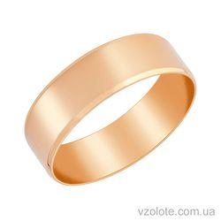 Золотое обручальное кольцо классическое Европейское 7 мм (арт. 1007)