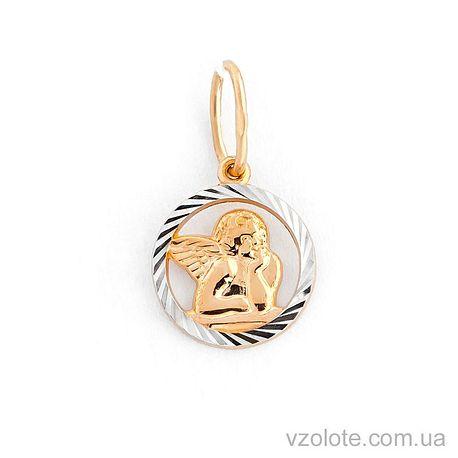 Золотой кулон Ангелочек (арт. 422575)