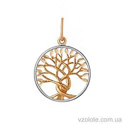 Золотой кулон Дерево жизни (арт. 3002903101)