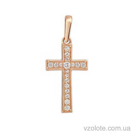 Золотой крестик с фианитами (арт. 3100923101)