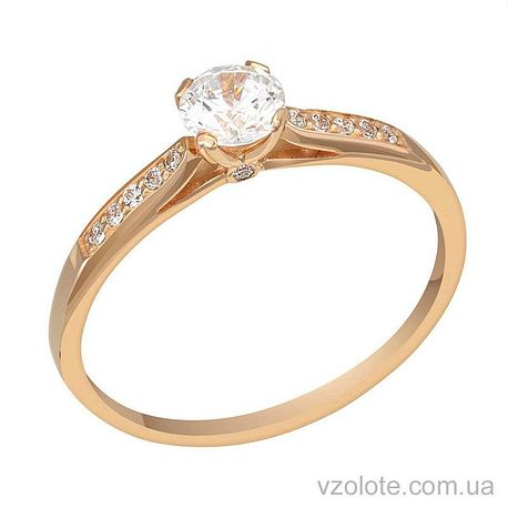 Золотое кольцо с фианитами (арт. 1101018101)