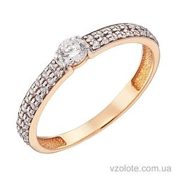 Золотое кольцо с фианитами (арт. 1101473101)