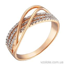 Золотое кольцо с фианитами (арт. 1190872101)