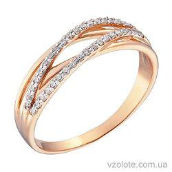 Золотое кольцо с фианитами (арт. 1190873101)