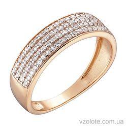 Золотое кольцо с фианитами (арт. 1191011101)