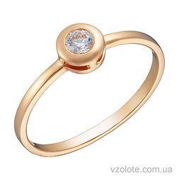 Золотое кольцо с фианитом (арт. 1191115101)
