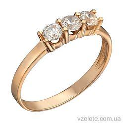 Золотое кольцо с фианитами (арт. 1191269101)