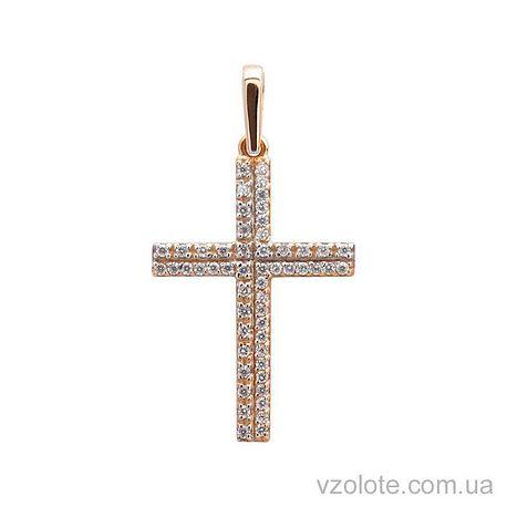 Золотой крестик с фианитами (арт. 3101035101)