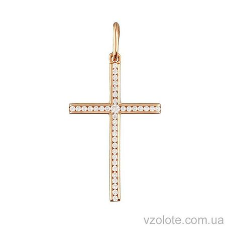 Золотой крестик с фианитами (арт. 3101506101)
