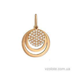 Золотая подвеска с фианитами (арт. 3103928101)