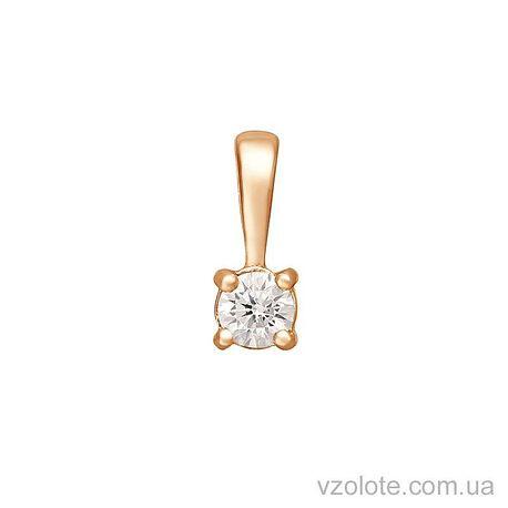 Золотая подвеска с фианитом (арт. 3190007101)
