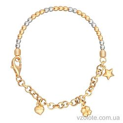 Золотой браслет с подвесками (арт. 4202456132)